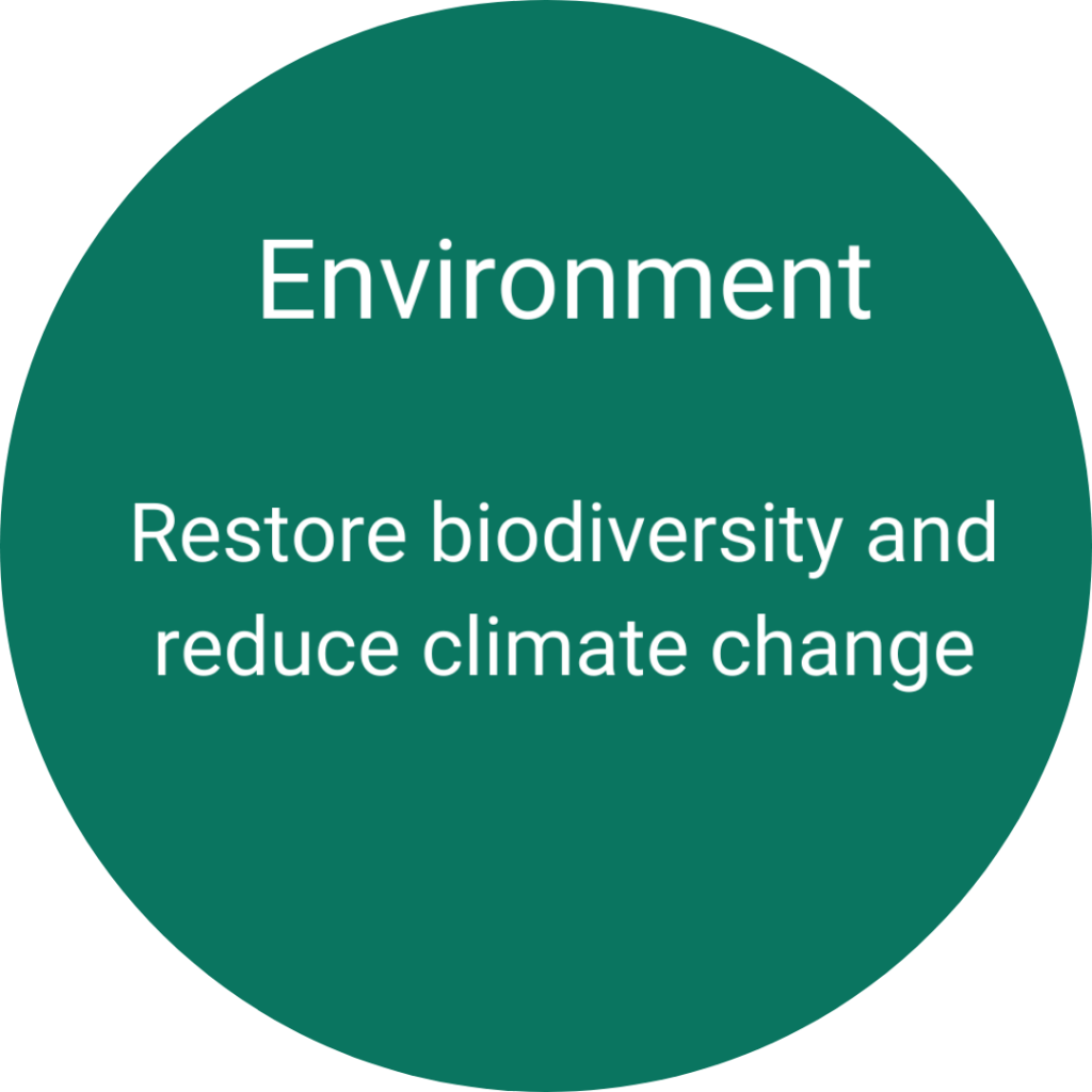Environment - Restore biodiversity and reduce climate change