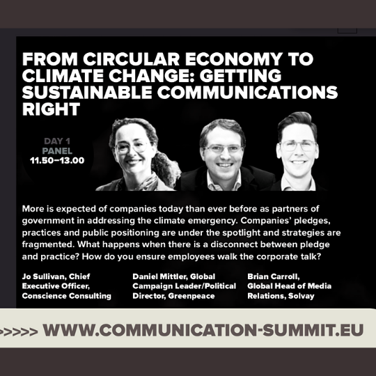 from circular economy to climate change: getting sustainable communicaitons right