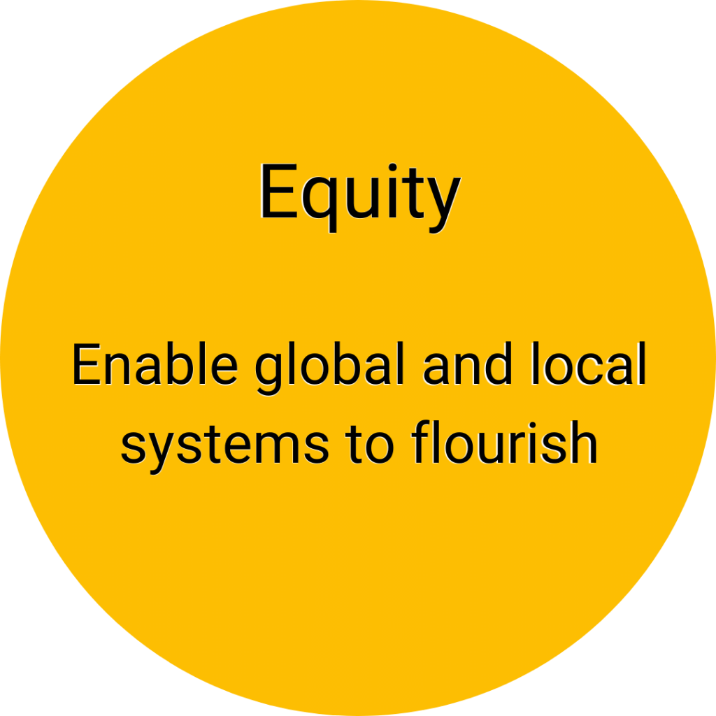 Equite: enable global and local systems to flourish